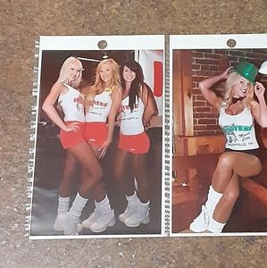 "Vintage HOOTERS GIRLS High-Gloss 4"" x 6"" Collectib"